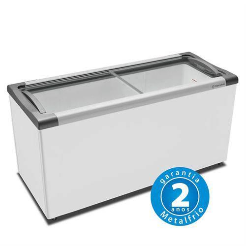 Freezer Horizontal Tampa de Vidro 491l NF55 – Metalfrio – 220v