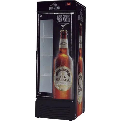 Cervejeira Porta com Visor VCFC 431 Litros Capacidade de 7 Caixas Fricon