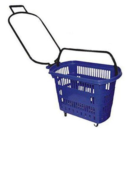 Cesta de Compras para Supermercado C/ Rodas 30 Litros  Amapá