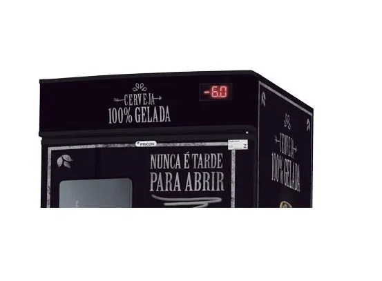Cervejeira Porta com Visor VCFC 431 Litros Capacidade de 7 Caixas Fricon - freezermetal.com.br