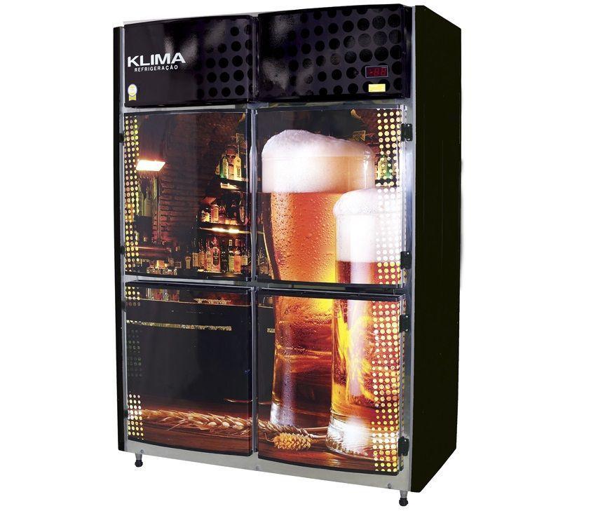 Cervejeira Visa Maste 4 Portas 22 Caixas de Garrafas 600ml Klima