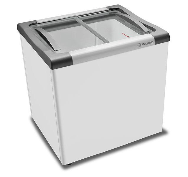 Freezer Horizontal Tampa de Vidro 180 Litros NF20 – Metalfrio – 220v