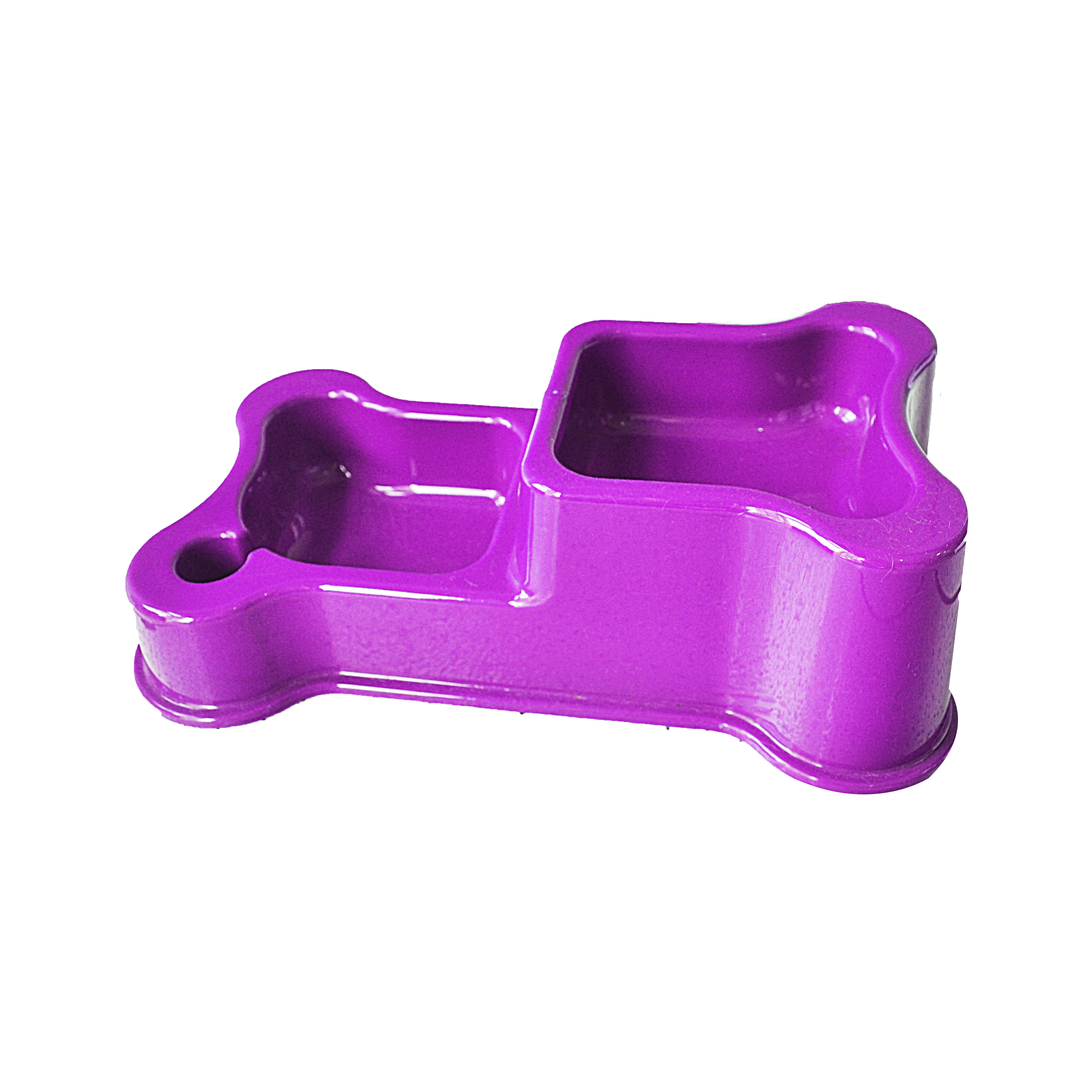 Comedouro e bebedouro duplo style purple anti-formiga