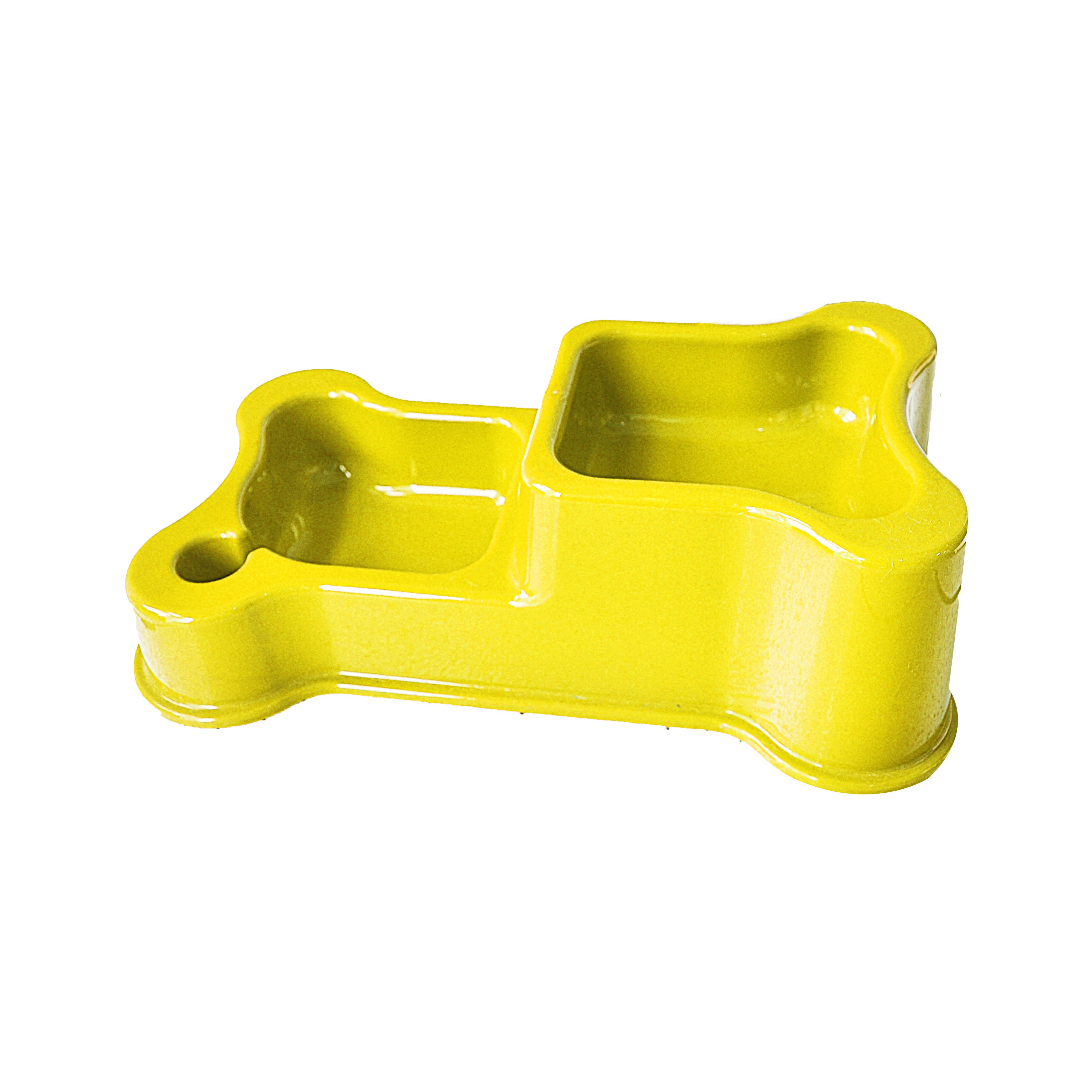 Comedouro e bebedouro duplo style yellow anti-formiga