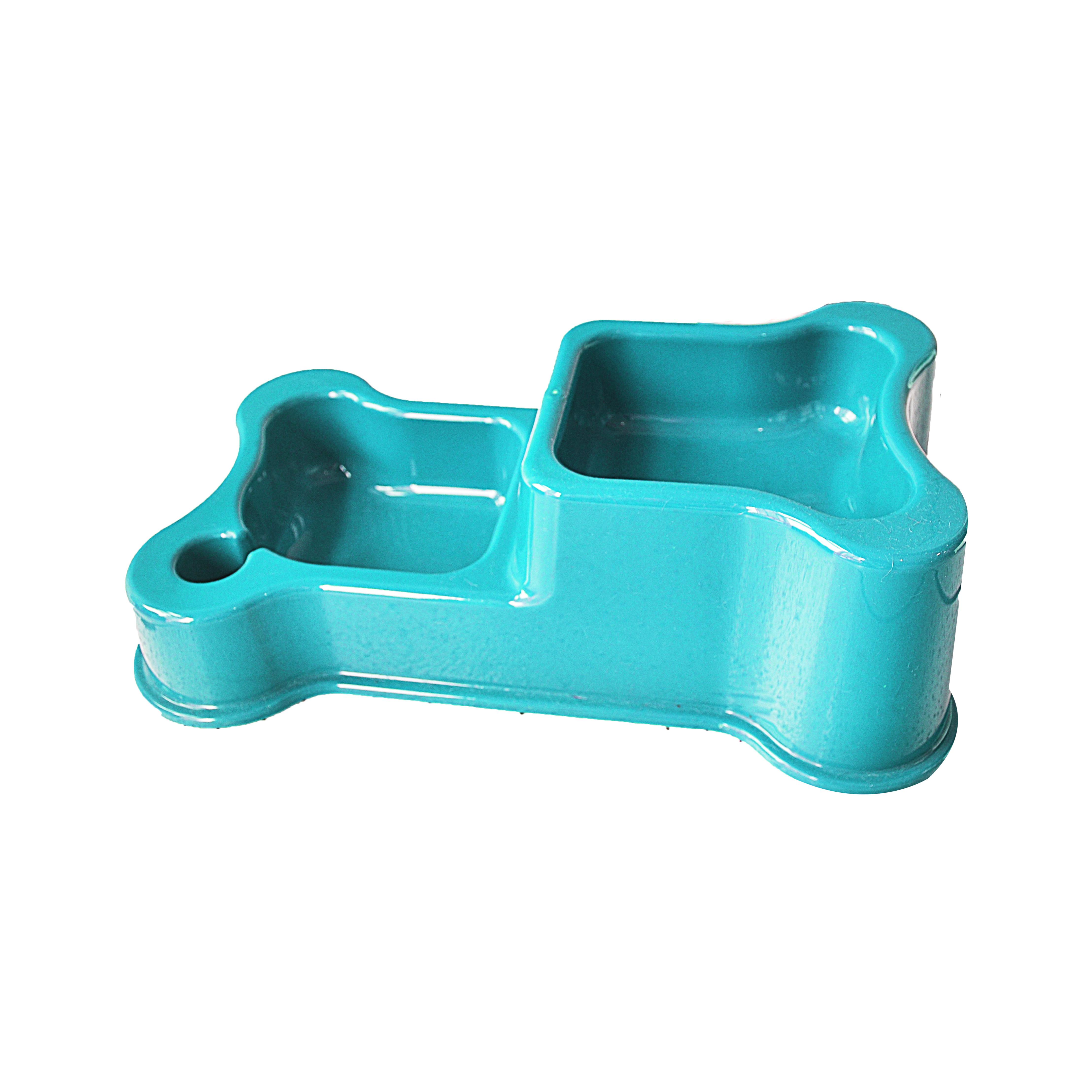 Comedouro e bebedouro duplo style ocean blue anti-formiga