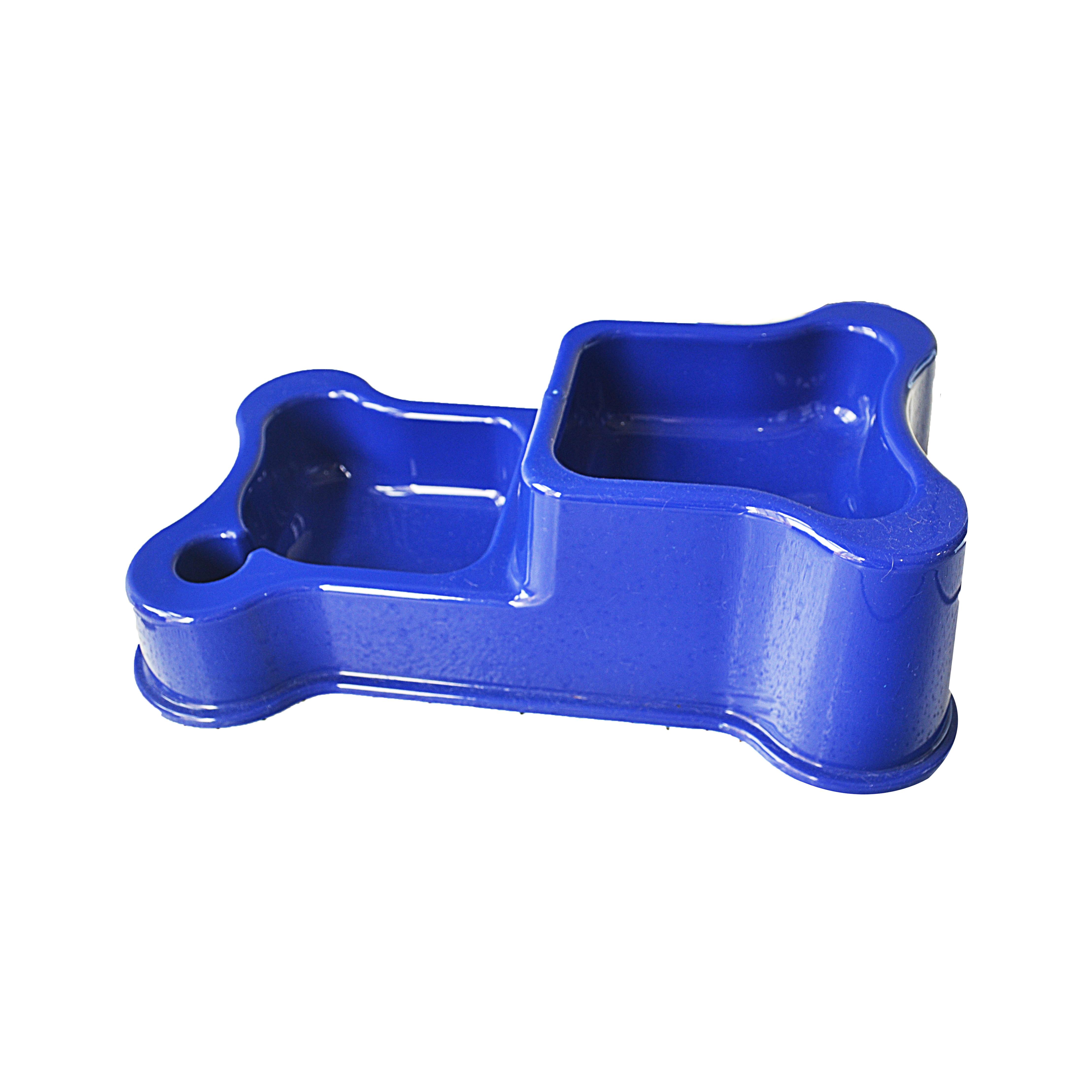 Comedouro e bebedouro duplo style blue anti-formiga