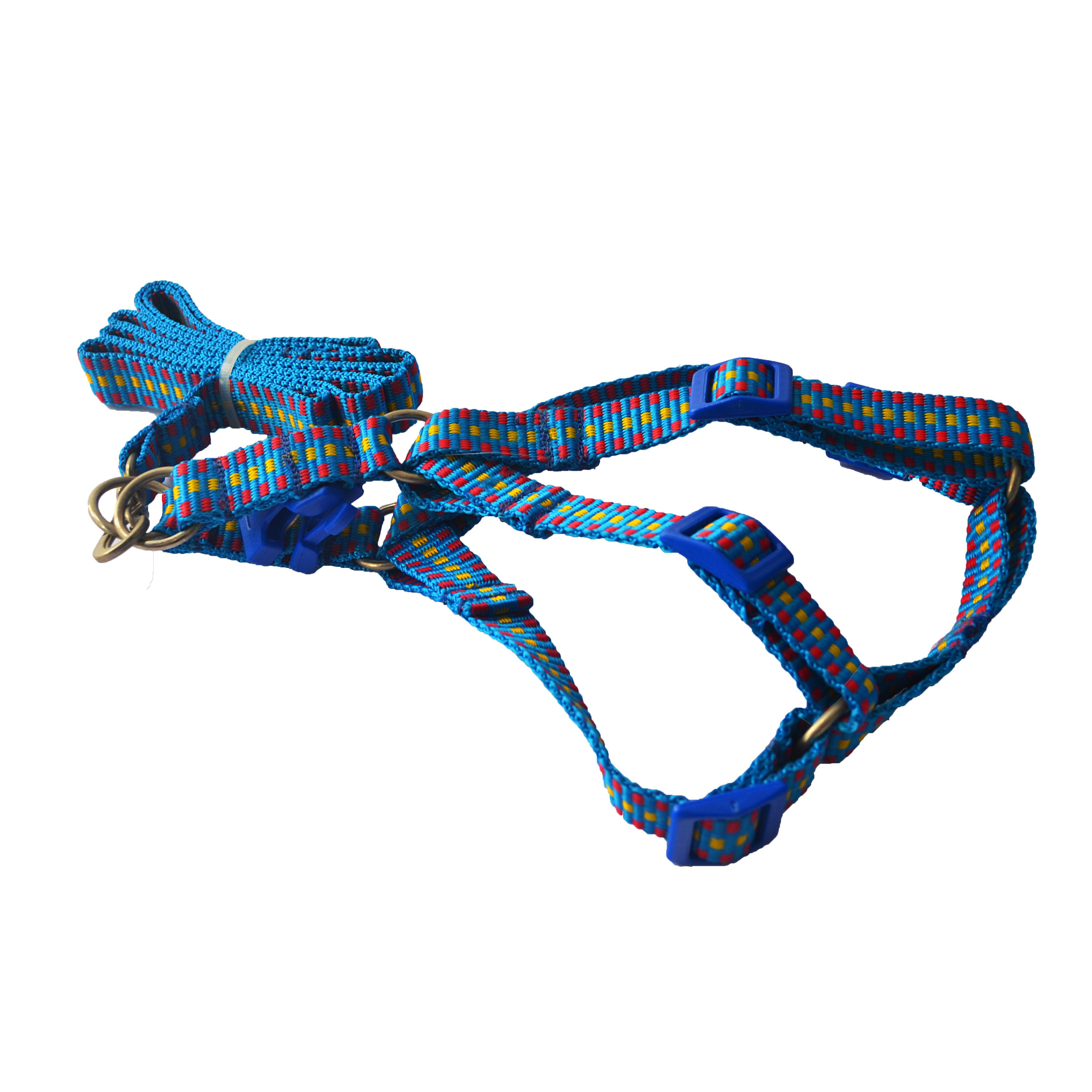 Peitoral ajustável com Guia blue colours