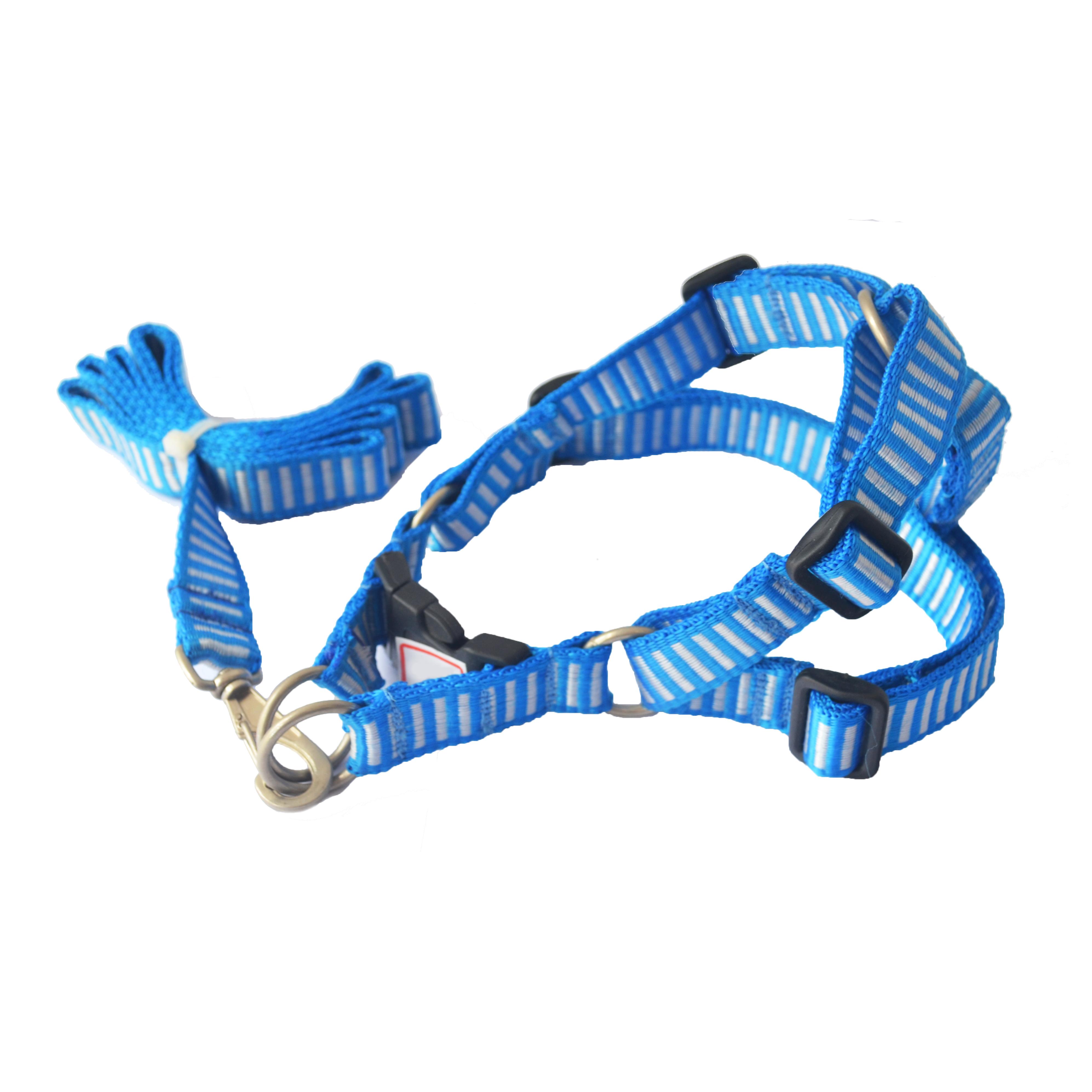 Peitoral ajustável com Guia blue & white