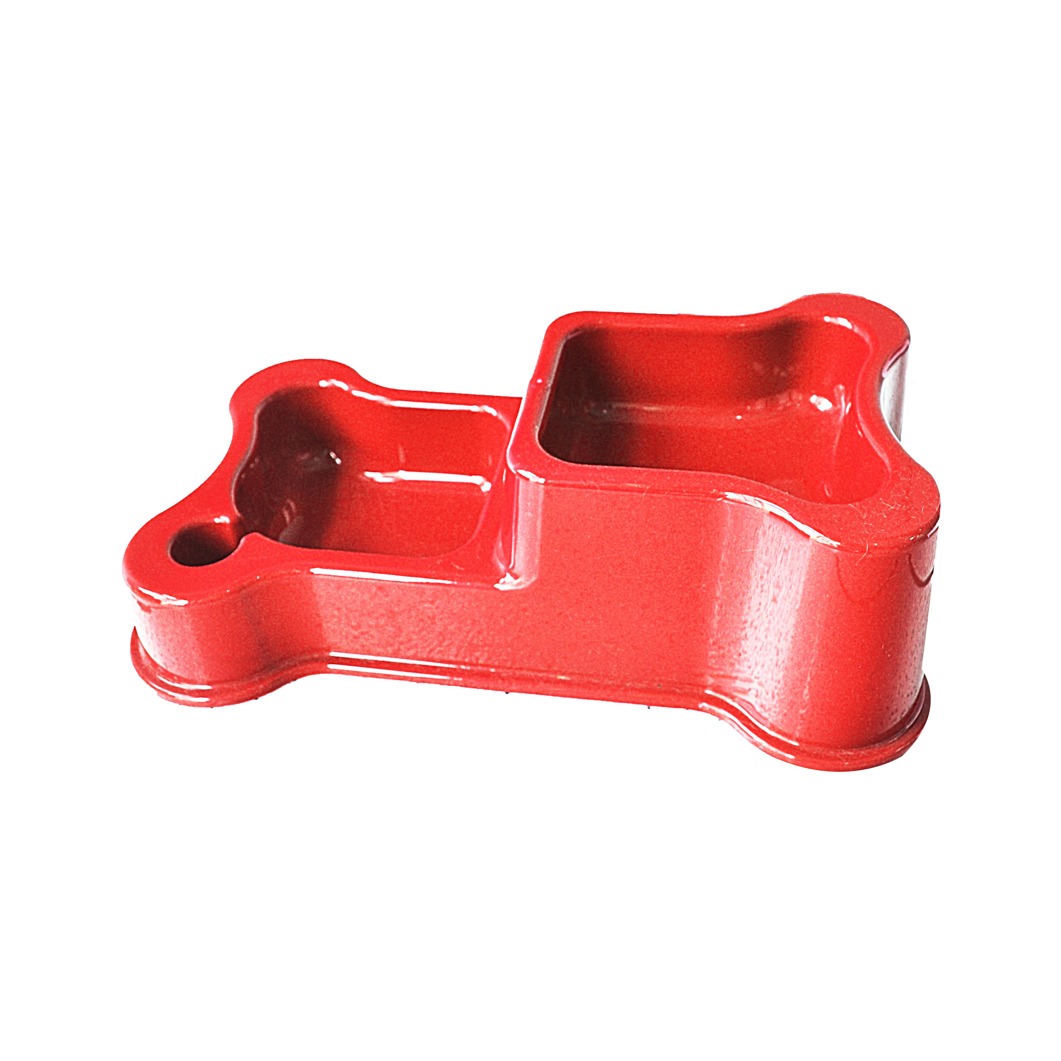 Comedouro e bebedouro duplo style red anti-formiga