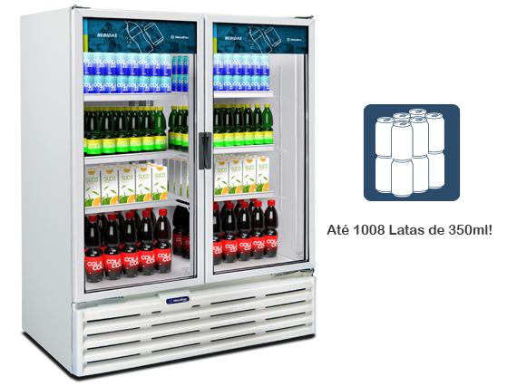 VB99 Expositor Vertical – Porta Dupla – 1022 Litros - lojafrio.com.br