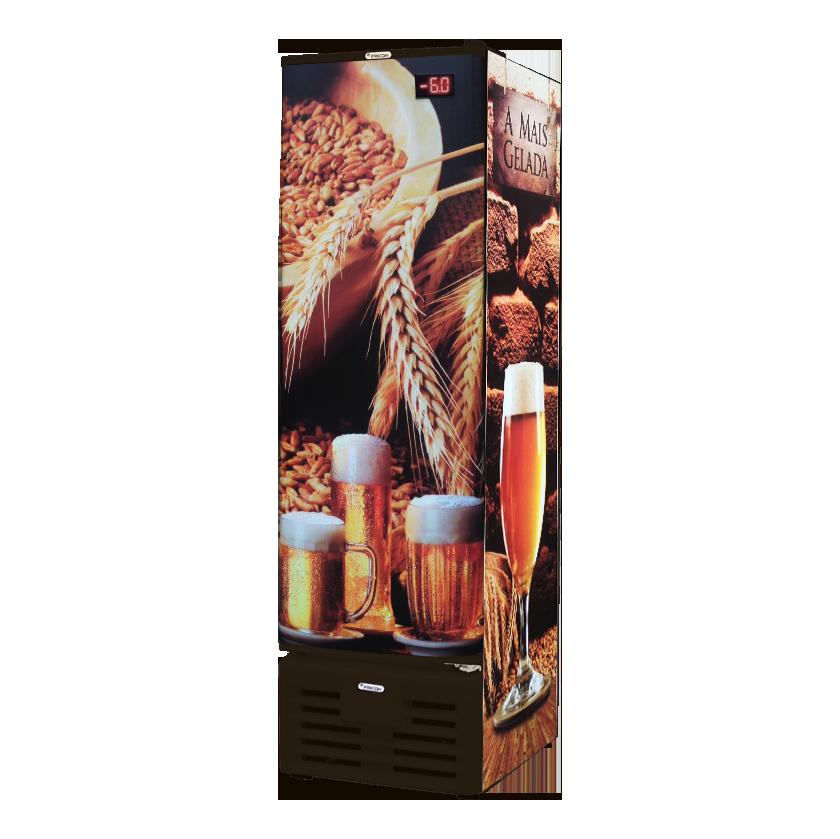 Cervejeira Fricon Slim 284 Litros Brutos P/Cega Marrom VCFC 284 C-220v