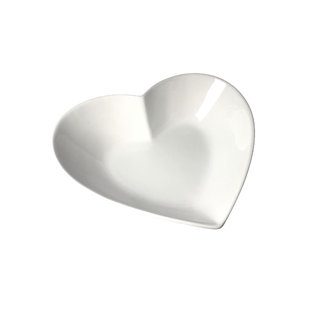 Saladeira porcelana coração