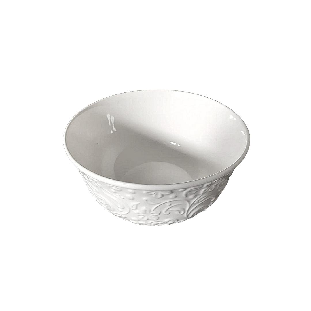 Bowl de porcelana new flowers branco - eshop.doccashop.com.br
