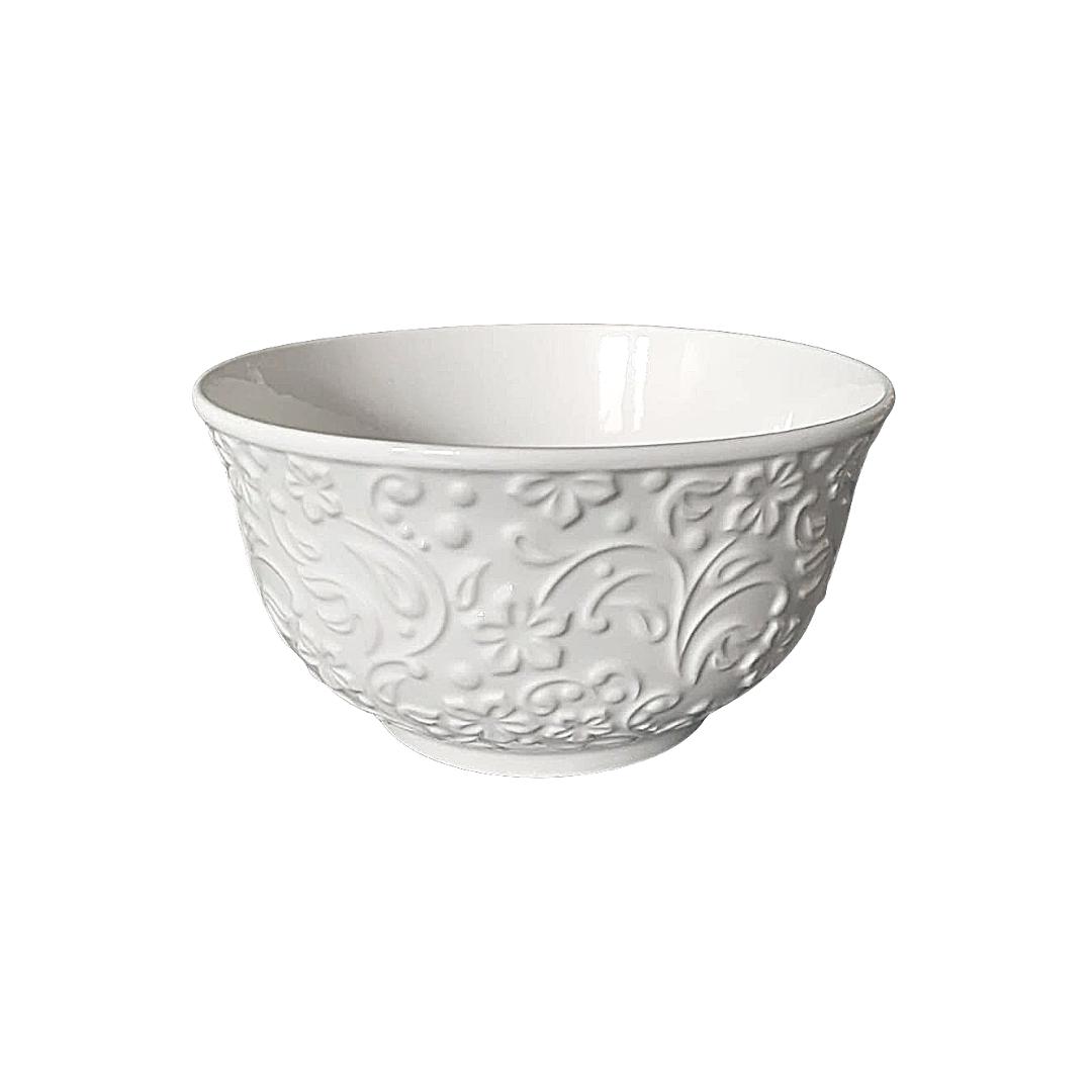 Bowl de porcelana new flowers branco