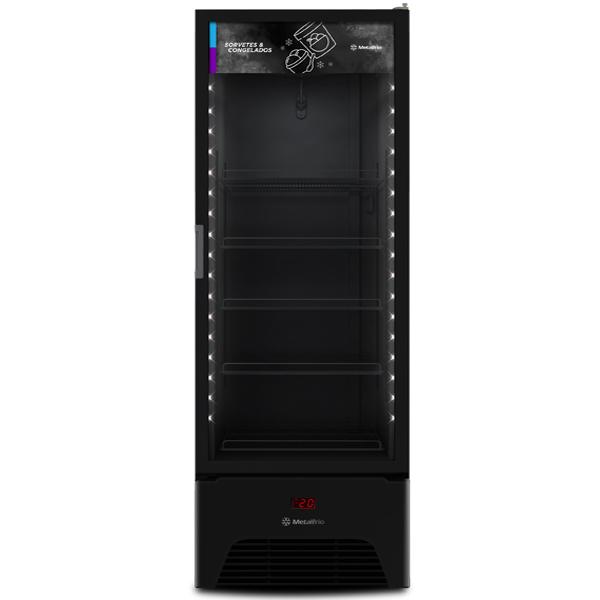 Freezer congelados Optima All Black – Expositor Vertical Metalfrio  572 litros VF50 - geladeirasecervejeiras.com.br