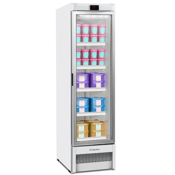 Freezer congelados Expositor Vertical Metalfrio 324 litros VF28 - geladeirasecervejeiras.com.br