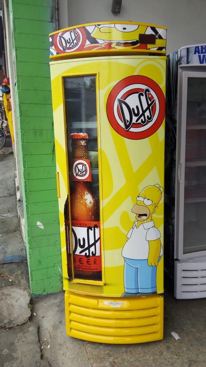 Cervejeira Metalfrio 572 litros c/ visor Personalizada Duff ( Reformada ) VN50